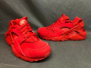 Nike Huarache Run (GS) Athletic Sneakers Grade-School Boys Red Red Size 4.5 NEW!