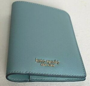 New Kate Spade New York Cameron Passport Holder Case Leather Seaside