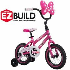"Disney Minnie 12""  Bicycle for Girls Pink Learning Bike with Minnie Bow Case NE"