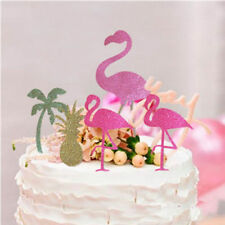 5pcs Hawaii Cake Tooper Flamingo Pineapple Coconut Tree for Luau Beach Party