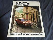 1975 Toyota Celica USA Market Color Sales Brochure Catalog Prospekt
