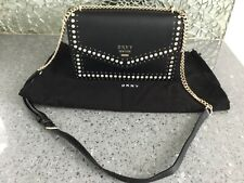 Dkny large studded black Whitney shoulder bag with crystals