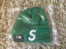 Supreme New Era S Logo Beanie-GREEN-VERY RARE-SOLD OUT!!!!