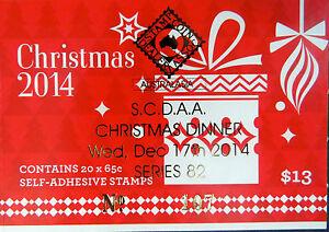 Australian Stamps: 2014 - Christmas Booklet - Christmas Tree & Present-Overprint