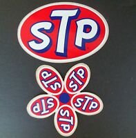 STP Decal Authentic Vintage Stickers 1 Flower 1 Oval Nascar Indy 500 Racing NOS