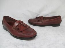Cole Haan Brown Leather Moc Toe Tassel Loafers Shoes Boots Mens Size 9.5 ITALY