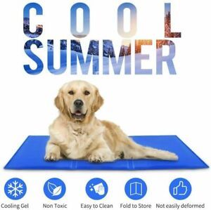 Gopetee Summer Petgel cooling ice pad Cushionl Bed Pet Cooling Gel Mat(Blue)