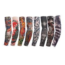 8pcs Tattoo Sleeve Mix Nylon Stretchy Temporary Sleeves Fashion Arm Stocking New