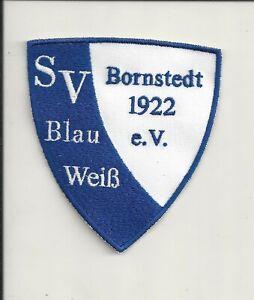 Aufnäher  SV BLAU-WEISS 1922 BORNSTEDT aus Sachsen-Anhalt