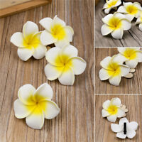 6Pcs Plumeria Flower Hair Clip Accessories Barrette Women Hawaiian Wedding Party