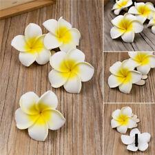 6Pcs Plumeria Flower Hair Clip Accessories Barrette Women Hawaiian Wedding Party