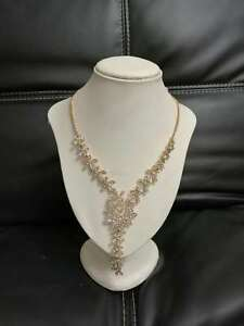 New Elegant Women Classic Style Pendant Necklace gift Gold Shining Chain