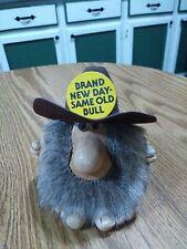"New listing Vintage Cave Man Troll Doll Rare Humorous! Signed PAULA 1987 4 1/2"" Tall"