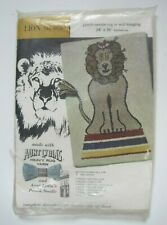 """New listing Aunt Lydia's """"Lion"""" Punch Needle Rug or Wall Hanging #606 Vintage Usa"""