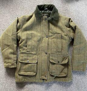 Women's / Ladies Tweed Hunting Shooting Casual Wool Mix Jacket Size 12