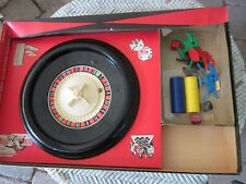 Vintage 1960's Roulette Horse Racing Complete Home Kit Board Game- NICE SHAPE!-