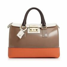 Furla Women's Candy Handbag Vanilla Medium Satchel Luna Petalo Made In Italy