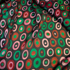 Top Italian designer pure mulberry silk chiffon fabric Made in Italy. 2.70x1.40m