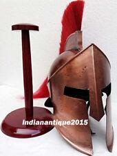 KING LEONIDAS 300 SPARTAN Helmet Medieval Armour Roman Helmet Red Plum