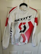 Scott Mens long sleeve cycling jersey  White, Black, Red, large
