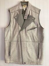 H&M - Fashion against Aids - Lederweste - beige - Vintage-Leder