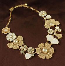 Collar Mini Perla Nácar Blanco Cristal Flor Retro Original soireemariage KS 1