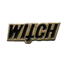 WITCH Enamel Pin Lapel Brooch Gothic Cross Wicca Craft