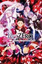 RE: ZERO - STARTING LIFE IN A NEW WORLD - ANIME TV SHOW POSTER (KEY ART)