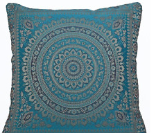 "Indian patchwork mandala sari ethnic silk Banarsi cushion covers mandala 16""x16"""