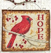 Hope Christmas Ornament Cross Stitch Kit - Dimensions (Red Cardinal Bird)