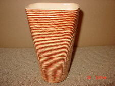 Vintage,Shawnee,Vase,Ribb ed,Brown,# 879,Steriated,Old