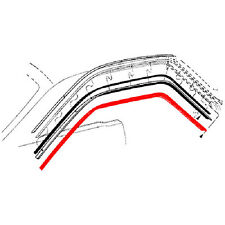 New 68-70 Ford Fairlane Mustang Roofrail Weatherstrip