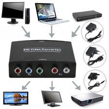 Black  HDMI to 5RCA RGB Component YPbPr Video +R/L Audio Adapter Converter
