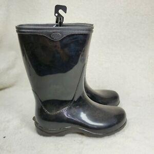 SLOGGERS Women's Waterproof Garden Rubber Rain Boot Black US 6 NEW Made in USA