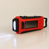New Digital Emergency Solar Hand Crank FM/AM/NOAA Weather Radio LED Flashlight