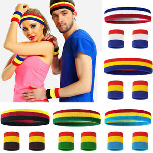 Hair Band Elastic Sweat Headband for Tennis Sport Yoga Fitness Rose Red D8R7 5X