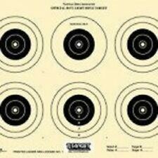 A-32 [A32] NRA Official 50 Foot Light Rifle Target, 6 bulls, (100) Tagboard
