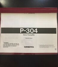 Onkyo Integra P-304 Stereo Preamplifier Owners Manual ~RARE~ LOOK !