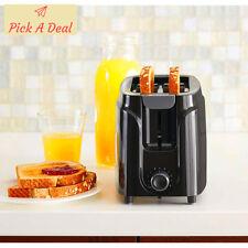 Mainstays 2-Slice Toaster Kitchen Wide Slot Bread Bagel Bun Black 750W Plastic