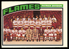 1976 77 OPC O PEE CHEE HOCKEY #132 ATLANTA FLAMES TEAM UNMARKED NM CARD