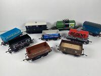 9 X Hornby Lima Job Lot 00 Gauge Rolling Stock Wagons Box Van Trucks Bundle