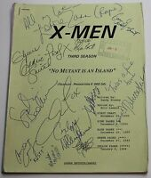 X MEN / 1995 Original TV Show Script with colored pages STAN LEE Animated Series