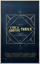 CIRCA SURVIVE | THRICE | CHON Tour 2017 Ltd Ed RARE New Poster +FREE Rock Poster