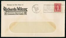Mayfairstamps Canada 1937 Ricahrds Wilcox London Cover wwf_90419
