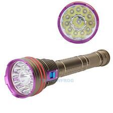 24000Lm 12 x CREE XM-L2 LED Underwater 100m Scuba Diving Flashlight Torch Lamp