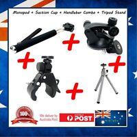 Garmin VIRB Ultra 30 Selfie Stick + Suction Cup + Handlebar Mount + Mini Tripod