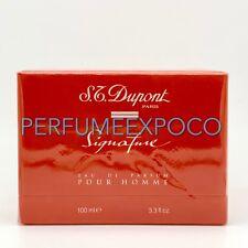 S.T. Dupont SIGNATURE Men COLOGNE 3.3oz-100ml EDP Splash DISCONTINUED Rare (BO09