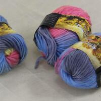 Sale Lot of 3 Skeins New Knitting Yarn Chunky Colorful Hand Wool Wrap Scarves 26