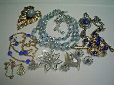 Vintage Blue Jewelry Lot