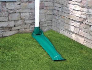 Frost King DRAIN AWAY 8' Green Plastic K Downspout Extension Unrolls DE200 NEW!!